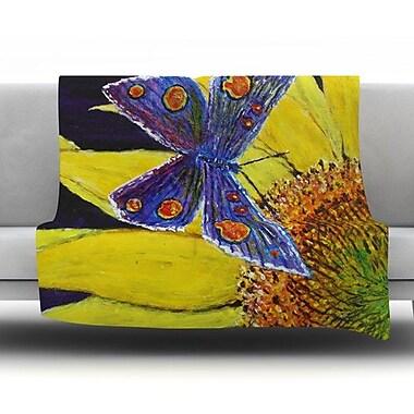 KESS InHouse Butterfly by David Joyner Fleece Throw Blanket; 80'' H x 60'' W
