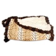 Baylee Nasco Snow Leopard Ruffle Blanket; 37'' L x 29'' W