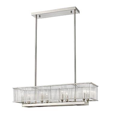 Z-Lite 1000-32BN Zalo Pendant, 8 Bulb, Clear Glass