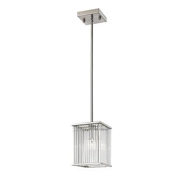 Z-Lite 1000-6MP-BN Zalo Mini Pendant, 1 Bulb, Clear Glass