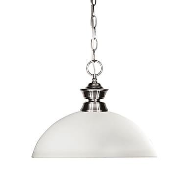 Z-Lite – Luminaire suspendu Shark pour îlot/table de billard 100701BN-DMO14, 1 amp., dôme, verre opale mat
