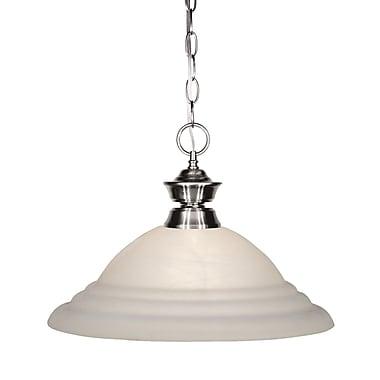 Z-Lite 100701BN-SW16 Shark Island/Billiard, 1 Bulb, White Swirl Glass
