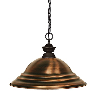 Z-Lite 100701BRZ-SAC Shark Island/Billiard, 1 Bulb, Stepped Antique Copper Metal