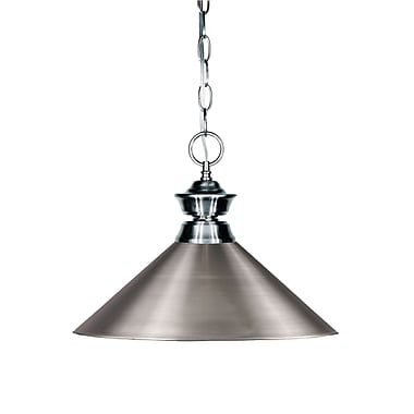 Z-Lite 100701GM-MBN Shark Island/Billiard, 1 Bulb, Brushed Nickel Metal