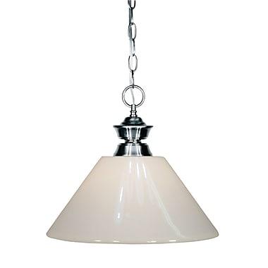 Z-Lite – Luminaire suspendu Shark pour îlot/table de billard 100701GM-PWH, 1 amp., plastique blanc