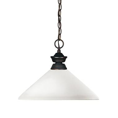 Z-Lite 100701OB-AMO14 Shark Island/Billiard, 1 Bulb, Angle Matte Opal Glass