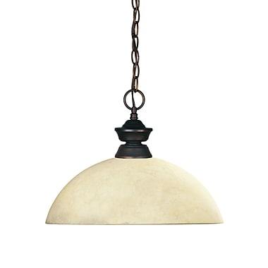 Z-Lite – Luminaire suspendu Shark pour îlot/table de billard 100701OB-DGM14, 1 amp., dôme, verre doré marbré