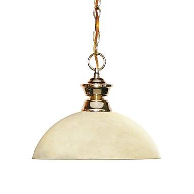 Z-Lite – Luminaire suspendu Shark pour îlot/table de billard 100701PB-DGM14, 1 amp., dôme, verre doré marbré