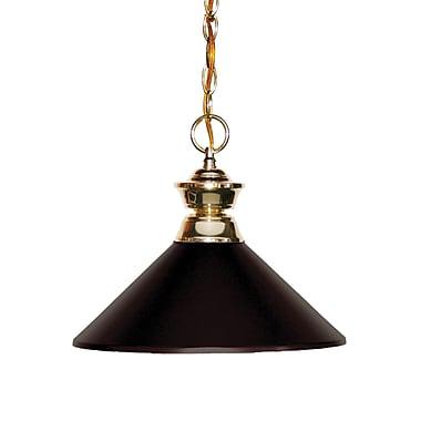 Z-Lite 100701PB-MBRZ Shark Island/Billiard, 1 Bulb, Bronze Metal