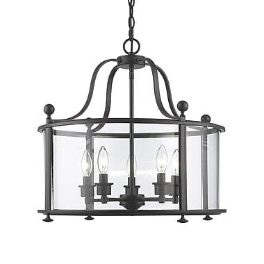 Z-Lite – Luminaire Wyndham 135-5, 5 ampoules, verre transparent