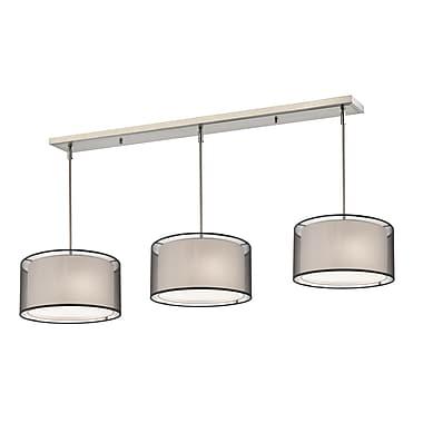 Z-Lite – Luminaire Sedona 192-15-3BK pour îlot/table de billard, 9 ampoules, organza noir/très blanc