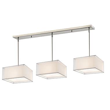 Z-Lite – Luminaire Sedona 193-15-3W pour îlot/table de billard, 9 ampoules, organza blanc/très blanc