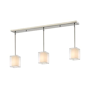 Z-Lite – Luminaire Sedona 193-6-3W pour îlot/table de billard, 3 ampoules, organza blanc/très blanc