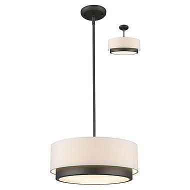 Z-Lite – Luminaire suspendu Jade 196-16, 3 ampoules, tissu blanc