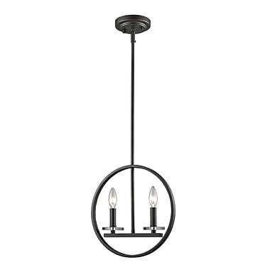 Z-Lite – Mini lampe suspendue Verona 2010MP-BRZ, 2 ampoules