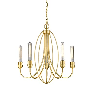 Z-Lite 3000-5SG Persis Chandelier, 5 Bulb,