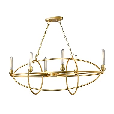 Z-Lite 3000-6SG Persis Chandelier, 6 Bulb,