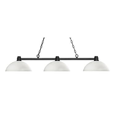 Z-Lite – Luminaire suspendu Park au fini bronze pour îlot/table de billard 314BRZ-DMO14, 3 amp., dôme, verre opale mat