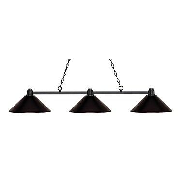Z-Lite – Luminaire suspendu Park au fini bronze pour îlot/table de billard 314BRZ-MBRZ, 3 amp., métal bronze