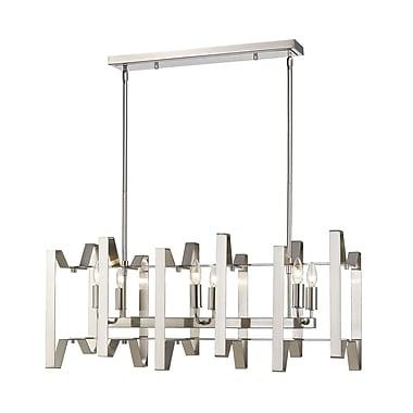 Z-Lite – Luminaire pour îlot/table de billard Marsala 4000-34BN, 6 ampoules,