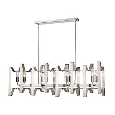 Z-Lite – Luminaire pour îlot/table de billard Marsala 4000-44BN, 8 ampoules,