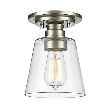 Z-Lite – Plafonnier encastré Annora 428F1-BN, 1 ampoule, verre transparent