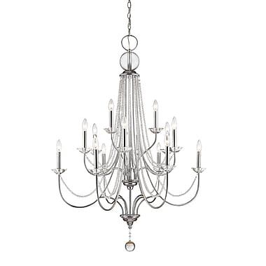 Z-Lite 429-15-CH Serenade Chandelier, 15 Bulb, Clear Crystal