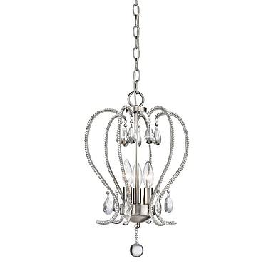 Z-Lite – Mini lustre Serenade 429-3-BN, 3 ampoules, cristal transparent