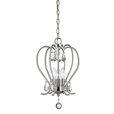 Z-Lite – Mini lustre Serenade 429-3-CH, 3 ampoules, cristal transparent