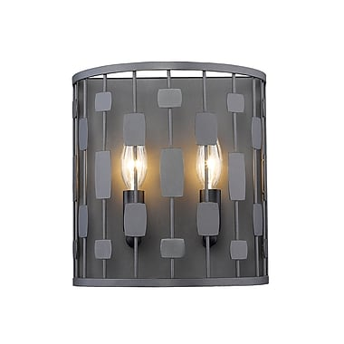 Z-Lite 430-2S-BRZ Almet Wall Sconce, 2 Bulb, Clear Crystal