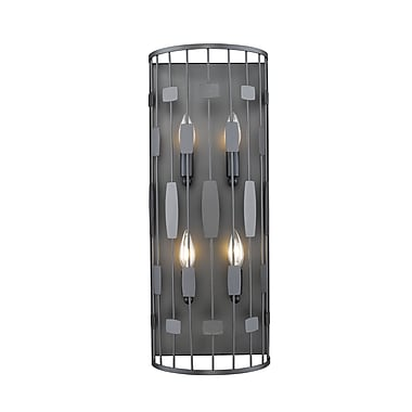 Z-Lite 430-4S-BRZ Almet Wall Sconce, 4 Bulb, Clear Crystal