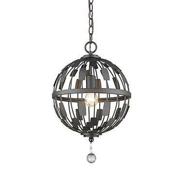 Z-Lite – Luminaire suspendu Almet 430B12-BRZ, 1 ampoule, cristal transparent