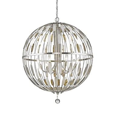 Z-Lite – Luminaire suspendu Almet 430B30-BN, 8 ampoules, cristal transparent