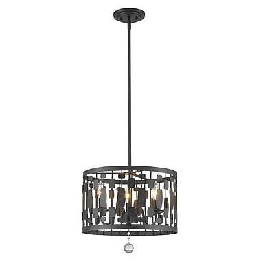 Z-Lite – Luminaire suspendu Almet 430D15-BRZ, 3 ampoules, cristal transparent