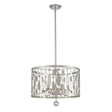 Z-Lite – Luminaire suspendu Almet 430D20-BN, 5 ampoules, cristal transparent