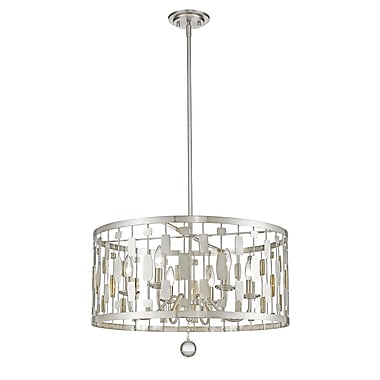 Z-Lite – Luminaire suspendu Almet 430D24-BN, 6 ampoules, cristal transparent