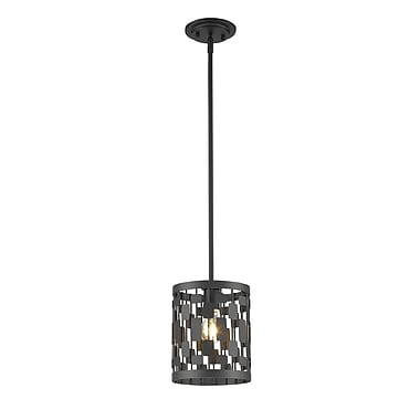 Z-Lite 430MP-BRZ Almet Mini Pendant, 1 Bulb, Clear Crystal