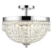 Z-Lite 431SF4-CH Danza Semi Flush Mount, 4 Bulb, Clear Crystal