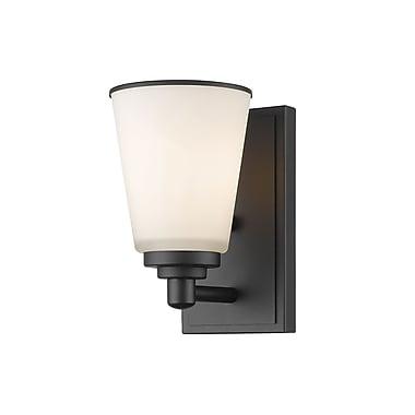 Z-Lite – Applique murale Jarra 432-1S-BRZ, 1 ampoule, verre blanc