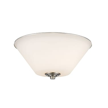 Z-Lite 432F2-BN Jarra Flush Mount, 2 Bulb, White Glass