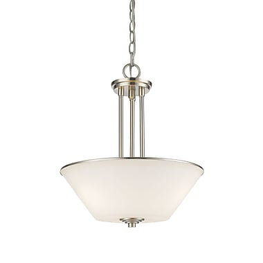 Z-Lite – Luminaire suspendu Jarra 432P-BN, 3 ampoules, verre blanc