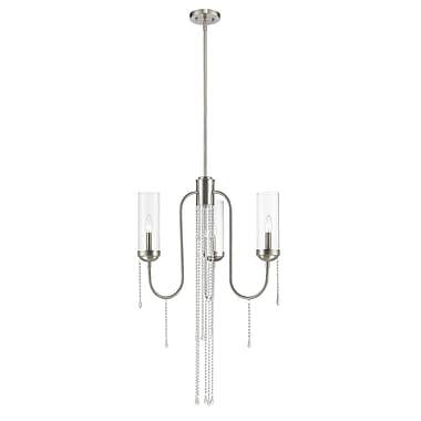 Z-Lite – Lustre Siena 433-3BN, 3 ampoules, verre transparent
