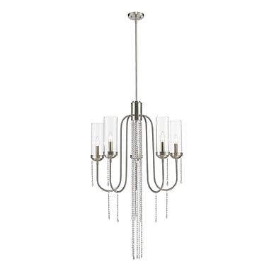 Z-Lite 433-5BN Siena Chandelier, 5 Bulb, Clear Glass