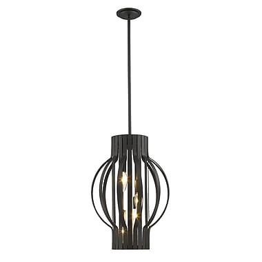 Z-Lite – Lampe suspendue Moundou 436-16BRZ, 4 ampoules