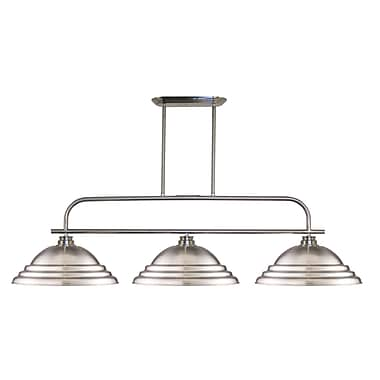 Z-Lite 437-3BN-SBN Annora Island/Billiard, 3 Bulb, Stepped Brushed Nickel Metal