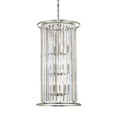 Z-Lite 439-12BN Monarch Chandelier, 12 Bulb, Clear Crystal