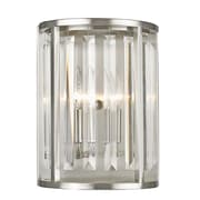 Z-Lite 439-2S-BN Monarch Wall Sconce, 2 Bulb, Clear Crystal