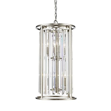 Z-Lite 439-6BN Monarch Chandelier, 6 Bulb, Clear Crystal