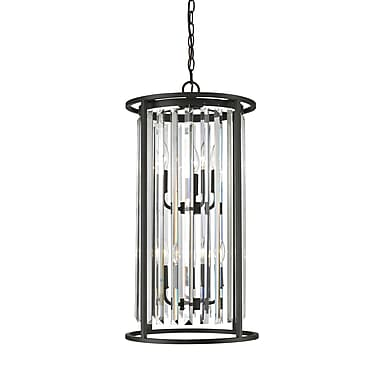 Z-Lite 439-6BRZ Monarch Chandelier, 6 Bulb, Clear Crystal