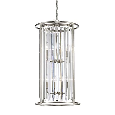 Z-Lite 439-8BN Monarch Chandelier, 8 Bulb, Clear Crystal